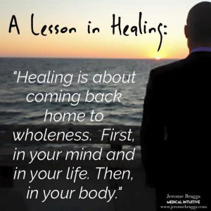 healing is about wholeness